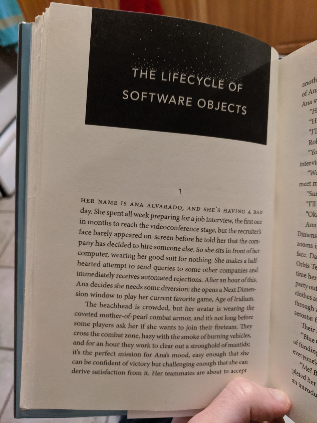 "First page of a book chapter titled ""The Lifecycle of Software Objects"""